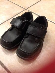 My boys smart school shoes, still clean!